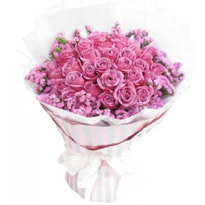 紫色恋曲----33枝紫玫瑰
